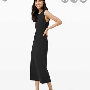 Lululemon All Aligned Midi Dress black 8 new
